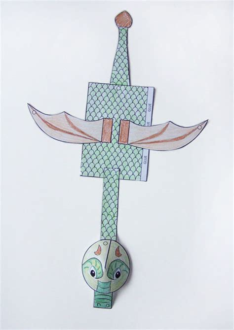 printable dragon marionette puppet create   chaos