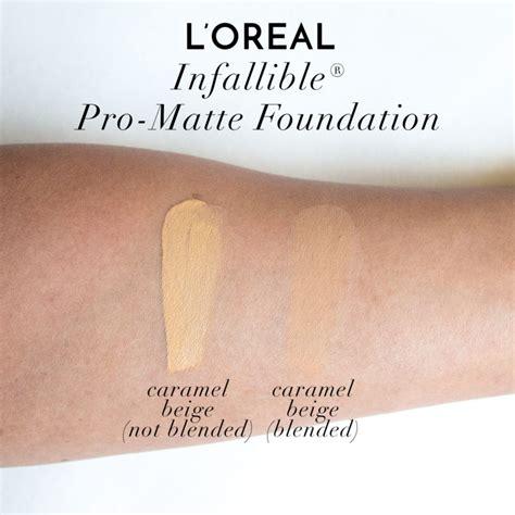 L Oreal Infallible Pro Matte Foundation l oreal infallible pro matte foundation swatches review