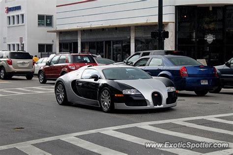 Bugatti In Miami by Bugatti Veyron Spotted In Miami Florida On 07 05 2014