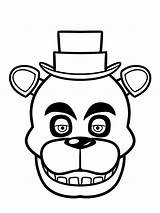 Fnaf Coloring Pages Nights Five Mangle Freddy Printable Freddys sketch template