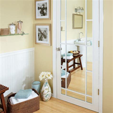 Bathroom Door Mirrors by Home Dzine Bathrooms Add Mirror Panel To Bathroom Door