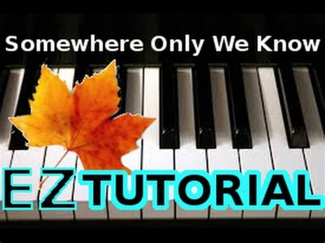 keane somewhere only we piano tutorial phim clip
