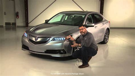 acura  tlx exterior style features youtube