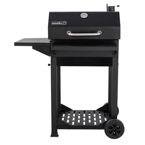 Nexgrill Cartstyle Charcoal Grill In Black With Side