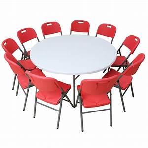 Table Ronde 10 Personnes : table pliante ronde diam tre 150 cm ~ Teatrodelosmanantiales.com Idées de Décoration