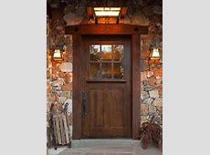 Rustic Knotty Alder Entry Doors