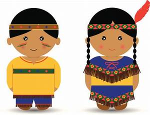 American Indian Boy Girl Vector Art | Thinkstock