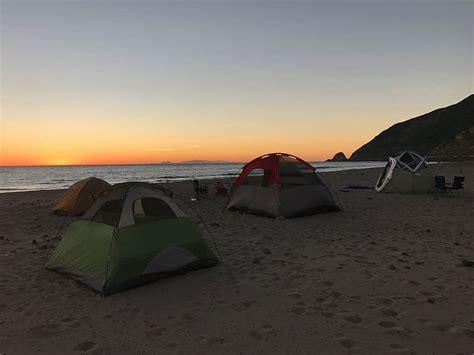 point mugu state beach camping  places  camp