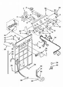Controls And Rear Panel Parts Diagram  U0026 Parts List For Model Mvwc700vw1 Maytag