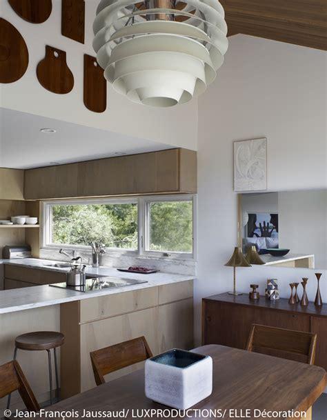 cuisine de charme maison de cagne à island avec meubles design reportage des meubles design au milieu