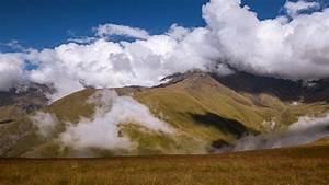 Download, Wallpaper, 2560x1440, Mountains, Clouds, Landscape, Nature, Georgia, Widescreen, 16, 9, Hd