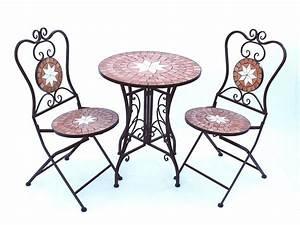 Gartenstühle Und Tisch : sitzgruppe merano 12001 2 gartentisch 2 stk gartenstuhl aus metall mosaik tisch 2x stuhl ~ Markanthonyermac.com Haus und Dekorationen