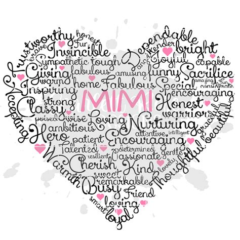 All of our downloads include an image, silhouette file, and.svg file. Mother's Day Grandmother SVG cut file, Best Mimi Heart ...