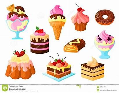 Cream Ice Cake Sweets Vector Dessert Cakes