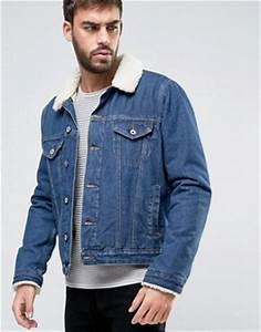 Veste Homme Col Mouton : vestes en jean homme explorez les vestes en jean asos ~ Dallasstarsshop.com Idées de Décoration