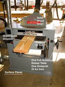 Surface Planer Cutting Direction