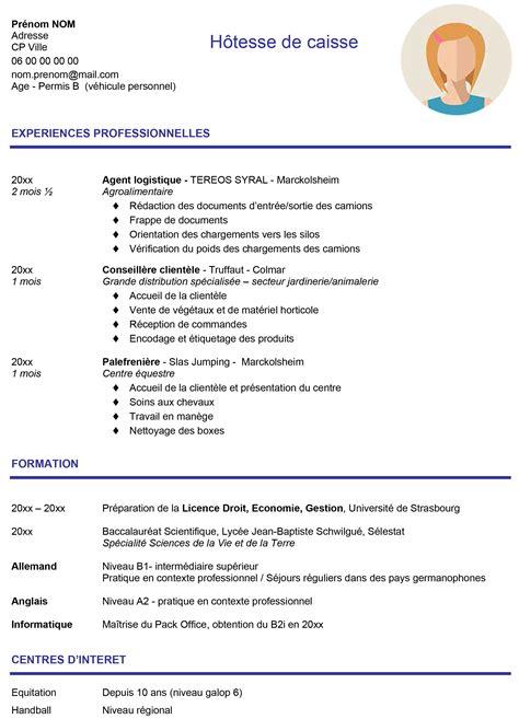 Cv De Travail Exemple by Exemple Cv 233 Tudiant Objectif Emploi Orientation