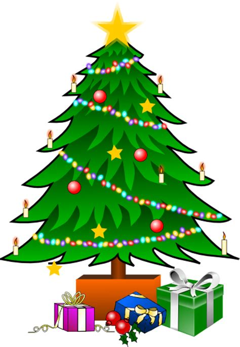 christmastree with gifts clip art at clker com vector clip art online royalty free public