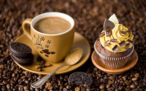Cup Of Coffee Cake And Cookies Wallpaper Small Nordic Coffee Table Extra Instant Cold Brew Powder Making Machine Grounds Kenya Directions Vs Cafetiere
