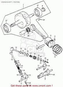 Honda St90 Trailsport 1975 K2 Usa Crankshaft    Piston