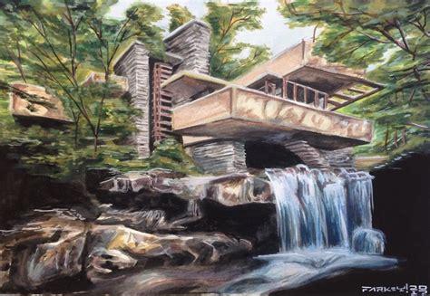 artstation fallingwater watercolor joshua sehnert