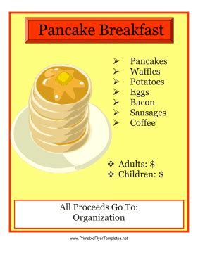 pancake breakfast flyer