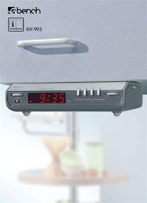 radio pour cuisine mode d 39 emploi kompernass ebench kh 993 radio de cuisine