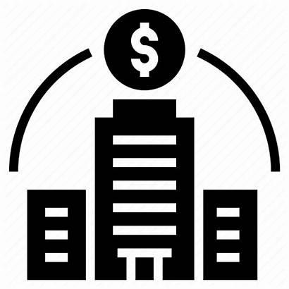 Corporate Bank Icon Company Building Abertura Empresa