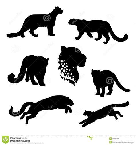 running jaguar silhouette running leopard silhouette www ...