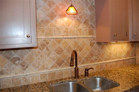Tumbled Marble Backsplash Tile Home Decorating Ideas