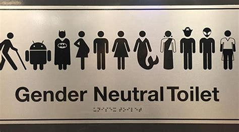 gender neutral washroom signs transgender transsexual