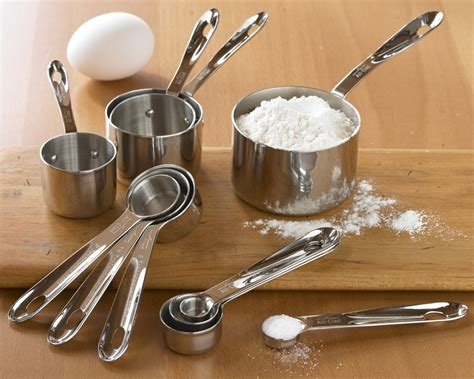 clad stainless steel measuring cups spoons