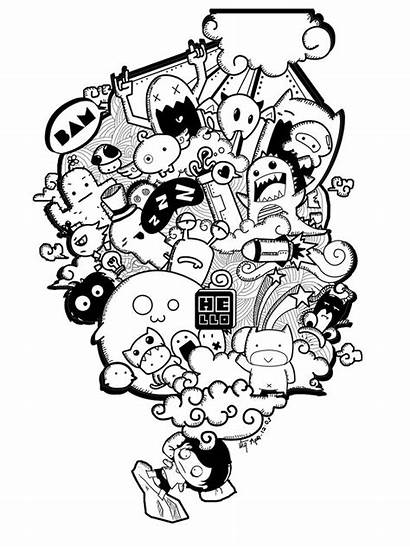 Doodle Doodles Coloring Graffiti Pages Drawing Drawings