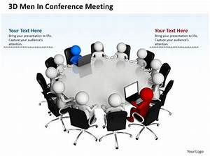 3d Men In Conference Meeting Business Team Ppt Graphics