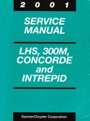 car repair manuals download 1994 chrysler lhs electronic toll collection 2001 chrysler lhs 300m concorde and dodge intrepid service manual