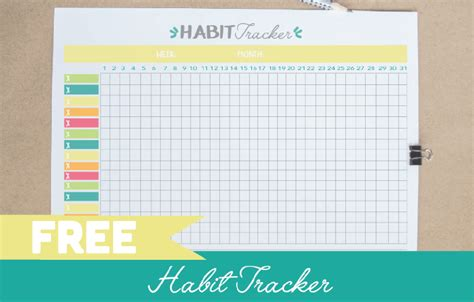 habit tracker template free printable habit tracker pdf bullet journal template