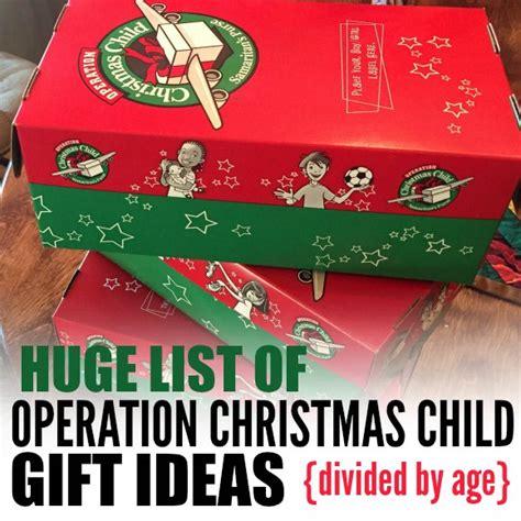 samaritan s purse operation christmas child gift ideas