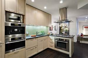 manhattan tri plex contemporary kitchen new york With best brand of paint for kitchen cabinets with wall art new york