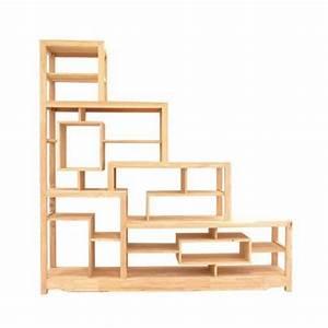 Etagere Escalier Bois : biblioth que tag re escalier d structur e double face ~ Teatrodelosmanantiales.com Idées de Décoration