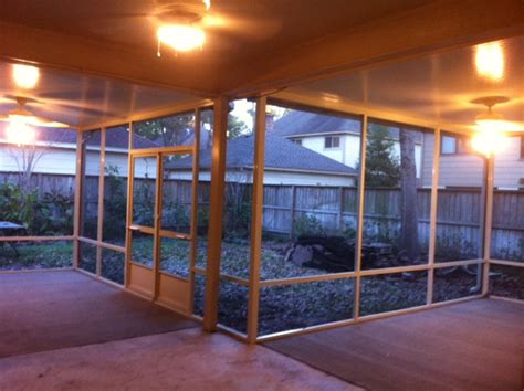 houston screen enclosure interior lone patio builders