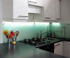 Pose Credence Verre : cuisine blanche verre pr l vement d ~ Premium-room.com Idées de Décoration