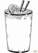 Coloring Drink Cold Glass Ice Pages Printable Food Drinks Drawing Supercoloring sketch template