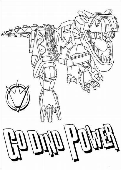 Dino Coloring Charge Power Rangers