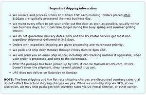 Shipping Policy For Clagrills Com