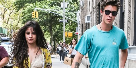 Camila Cabello Shawn Mendes Hold Hands While Returning