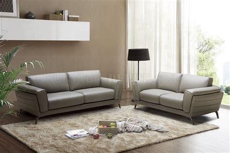 Berlin Sofa & Loveseat Set In Grey Leather By J&m Woptions