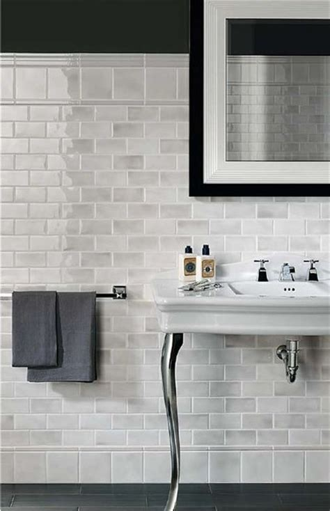 marble subway tile bathrooms decor