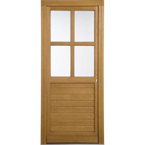 porte de service bois vichy poussant gauche h 200 x l 80 cm leroy merlin