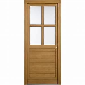 Porte De Service Leroy Merlin : porte de service bois vichy poussant droit x ~ Melissatoandfro.com Idées de Décoration