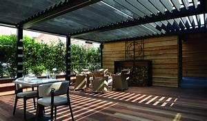 Pergola Bois Bioclimatique : pergola pergola bioclimatique restaurant brustor ~ Louise-bijoux.com Idées de Décoration